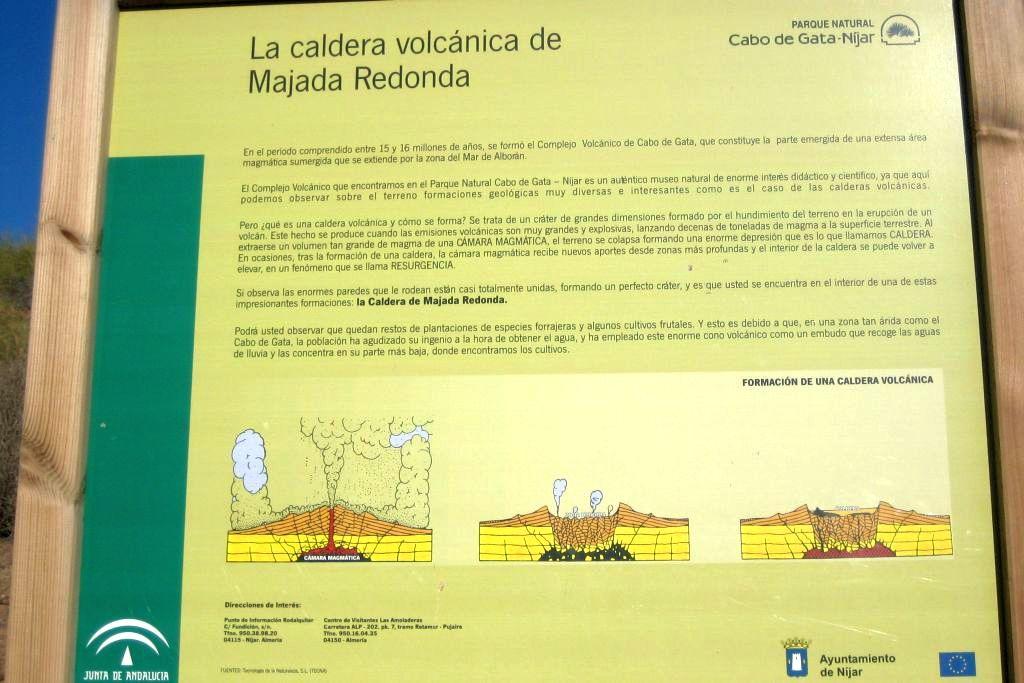 Información sobre la caldera volcánica