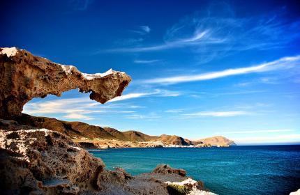 Elementos volcánicos y formaciones rocosas de cabo de Gata.