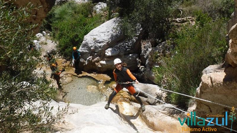 Barranquismo Barranco Lentegí - Villazul Turismo Activo Cabo de Gata