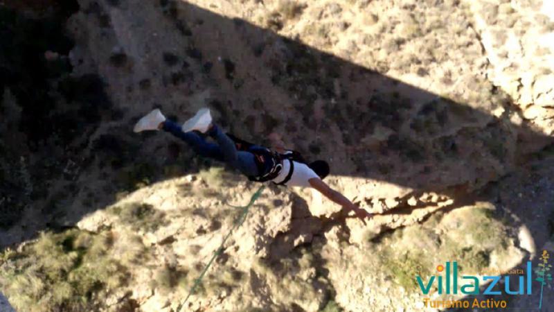 Puenting en Almeria - Villazul Turismo Activo Cabo de Gata