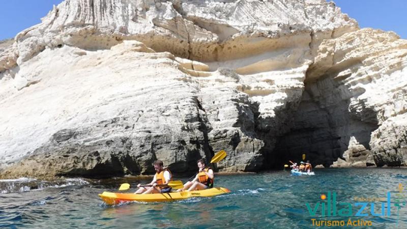 Rutas de Kayak en Los Escullos - Villazul Turismo Activo Cabo de Gata