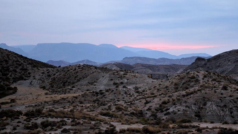 Atardecer en Desierto de Tabernas
