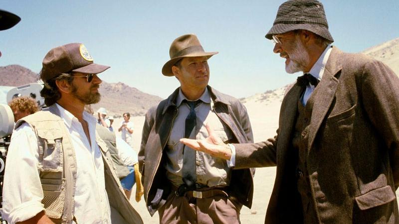 Spielberg, Harrison Ford y Connery en el Desierto de Tabernas